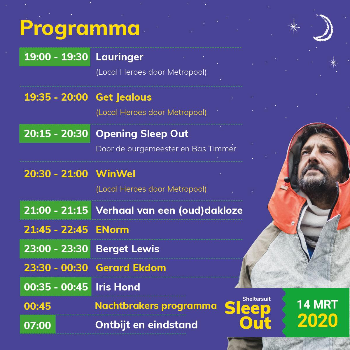 Programma Sheltersuit Sleep Out