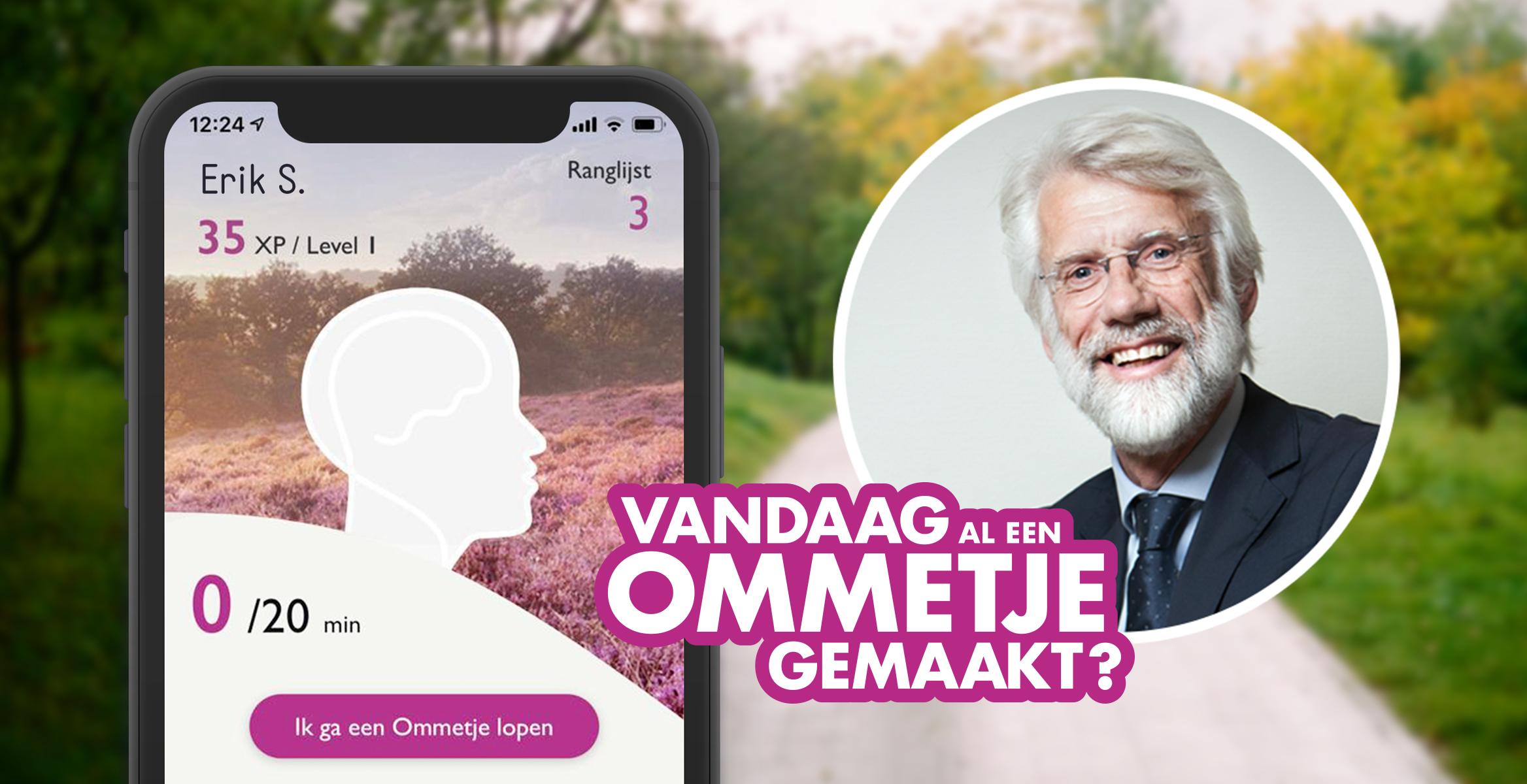 Het campagnebeeld van Ommetje met Erik Scherder