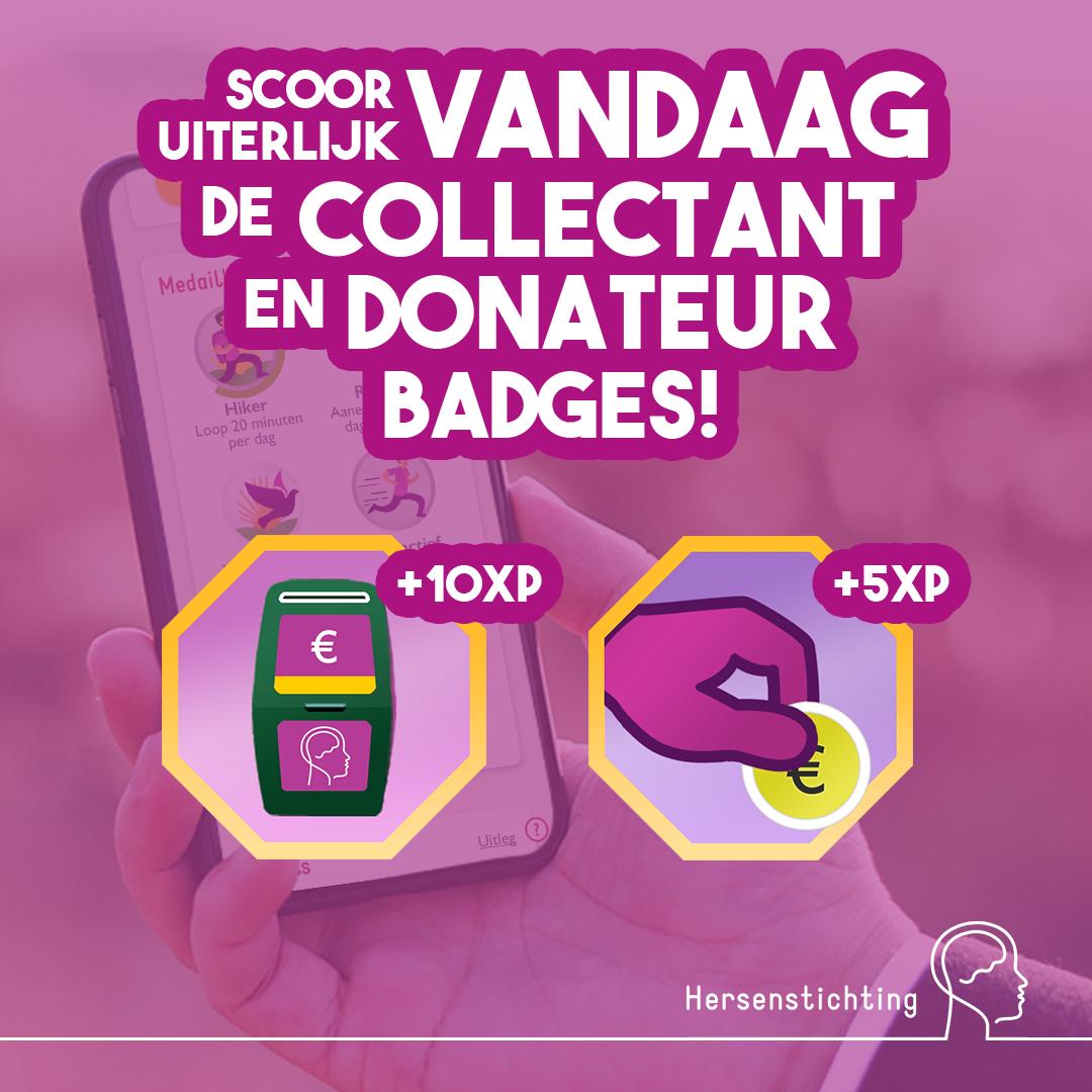 Ommetje post Donateur en Collectant badge