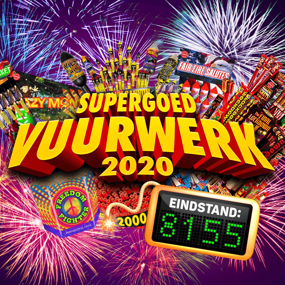 Supergoed Vuurwerk eindbedrag op Instagram