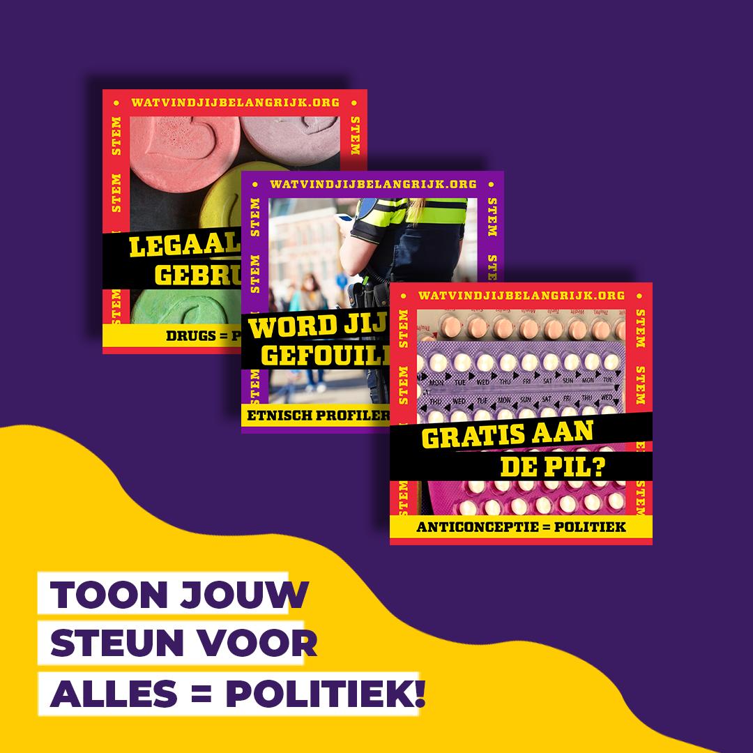 Social post ALLES = politiek op Better Together Agency